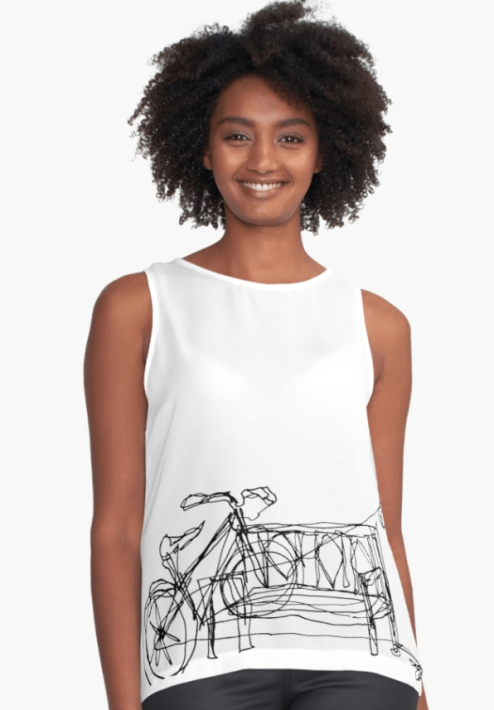 Contrast Tank by SketchStudy on Redbubble
