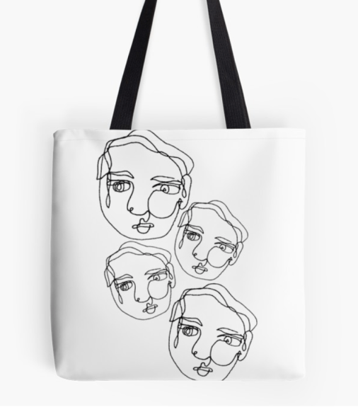 Contour People Tote Bag by morgan markowski on Redbubble