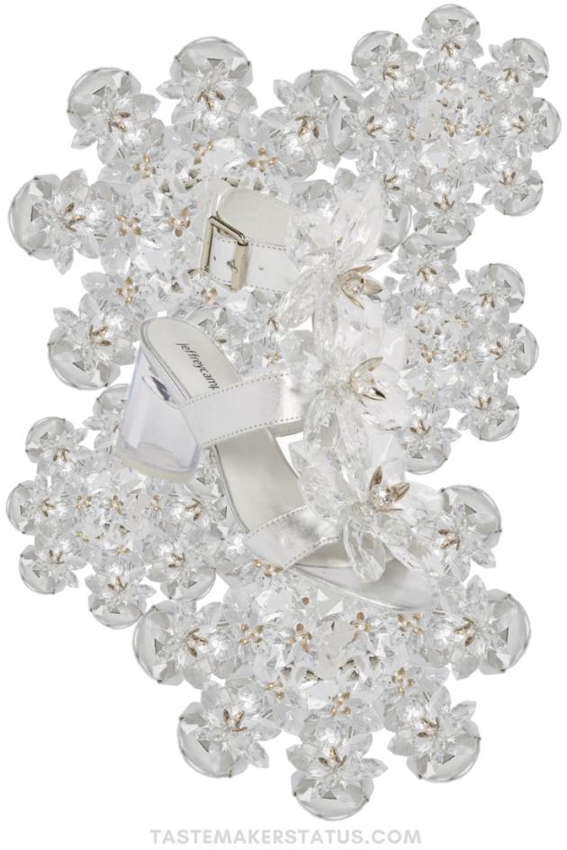 Jeffrey Campbell Violit Embellished Floral Sandals - Tastemaker Status