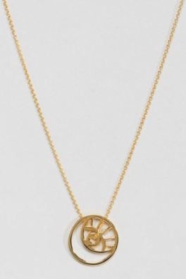 ASOS DESIGN Gold Plated Sterling Silver Cut Out Eye Motif Necklace