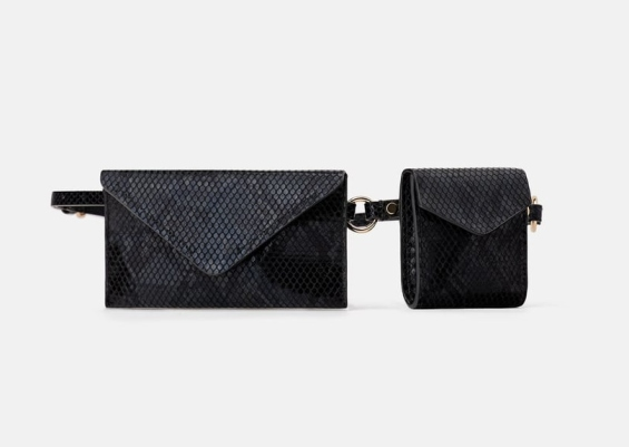 Animal Print Double Pocket Belt Bag. $29.90, zara.com