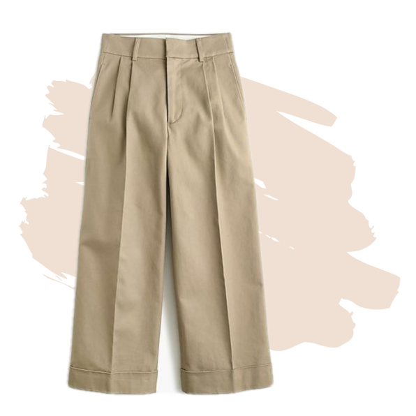 J. Crew Wide-Leg Cropped Pant in Stretch Twill