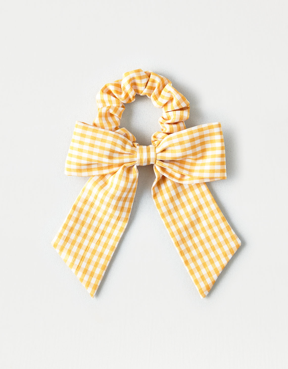 Clips Clasps 2 Girls Yellow And White Check Handm Ribbon School Hair Bows